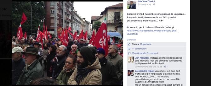 Varese, critica l'Anpi su Facebook: assessore costretto alle dimissioni