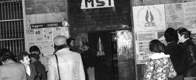 """I nostalgici degli """"anni di piombo"""": Almirante non va ricordato"""