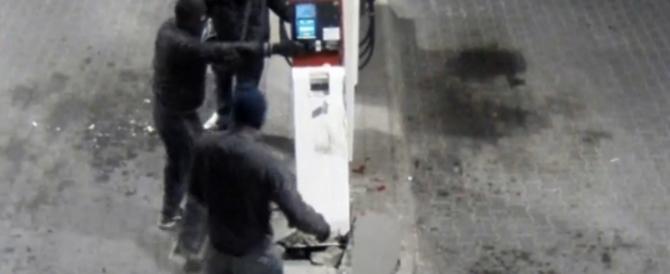 Zingari all'assalto dei distributori con armi da guerra: 8 arresti