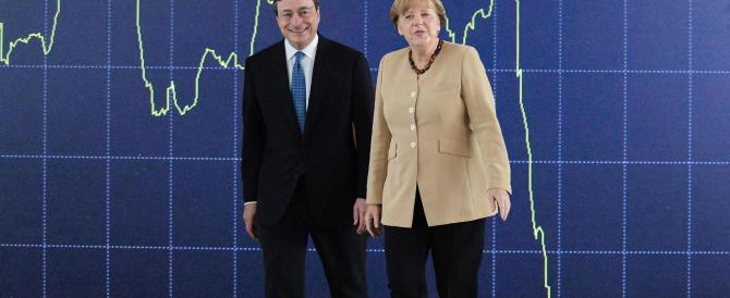 """Il """"bazooka"""" di Draghi spara 60 miliardi al mese e ferisce la Merkel"""