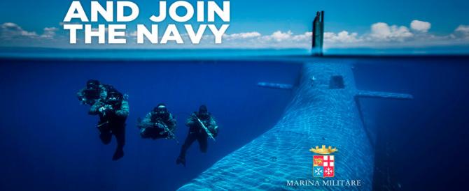 La gaffe della Marina Militare: recluta italiani ma gli parla in americano