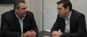 Tsipras parte col piede destro: patto col nazionalista Kammenos