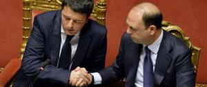 """Mattarella sul Colle. """"Sissignore"""": Alfano si piega al ricatto di Renzi"""