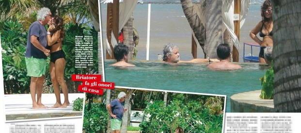 Grillo, vacanze a 5 stelle con Briatore. Il discorso in cantina? Registrato…