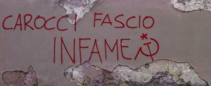 Insulti a Carlo Carocci: gli antifascisti militanti si coprono di vergogna