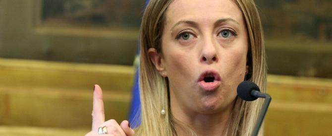 Meloni: «I cittadini devono scegliere i loro parlamentari. No ai nominati»