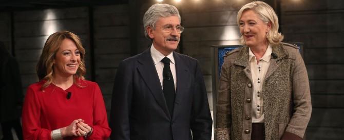 """Marine Le Pen """"asfalta"""" D'Alema in tv: «Fai sermoni da comunista»"""