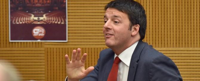 Imbarazzo per il tweet sulla Roma: ma per Renzi è sempre colpa degli altri