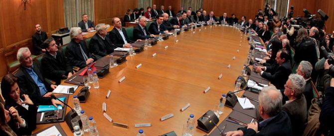 Dalla Grecia schiaffo alla troika: bloccate le privatizzazioni