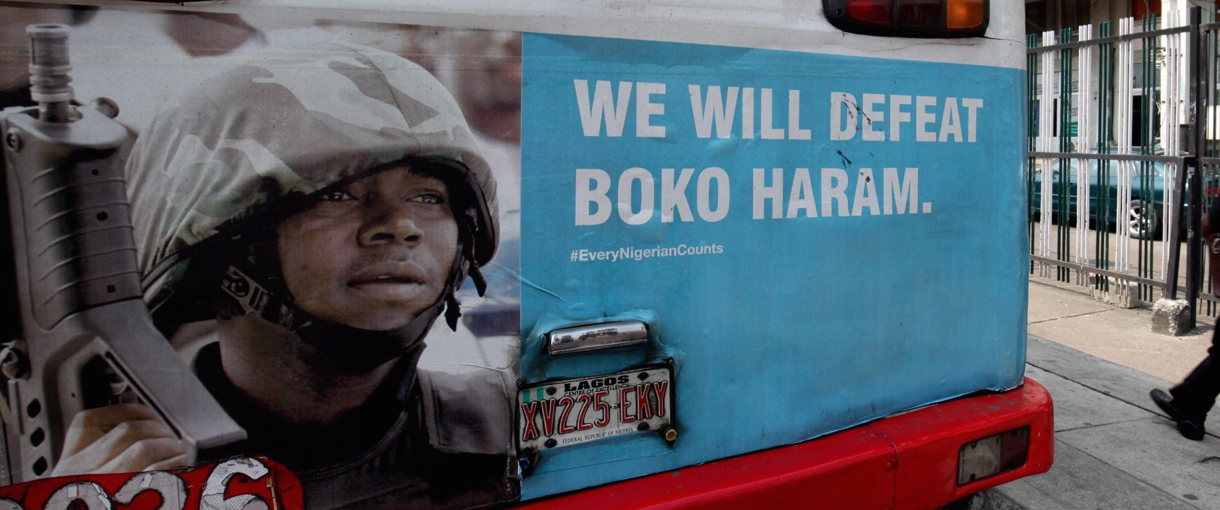Una pubblicità anti-Boko Haram in Nigeria