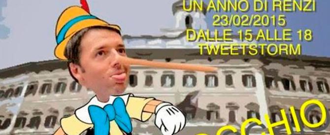 #renzipinocchio, l'ironia dei giovani di FI sul premier