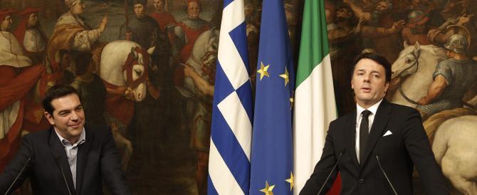 """Renzi incontra Tsipras e gli """"condona"""" i 40 miliardi di debiti"""