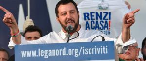 Salvini: «Renzi servo sciocco di Bruxelles». E la piazza s'infiamma