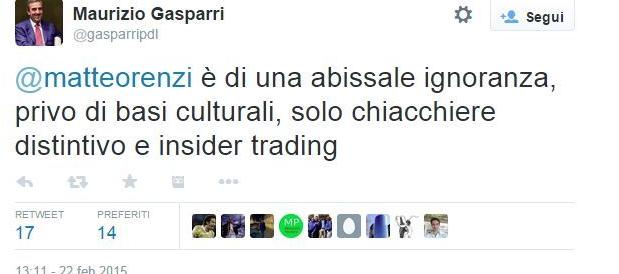Renzi provoca sulla Rai, Gasparri risponde. Ecco tutti i tweet al veleno