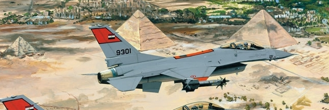 Un caccia egiziano parte per la LIbia