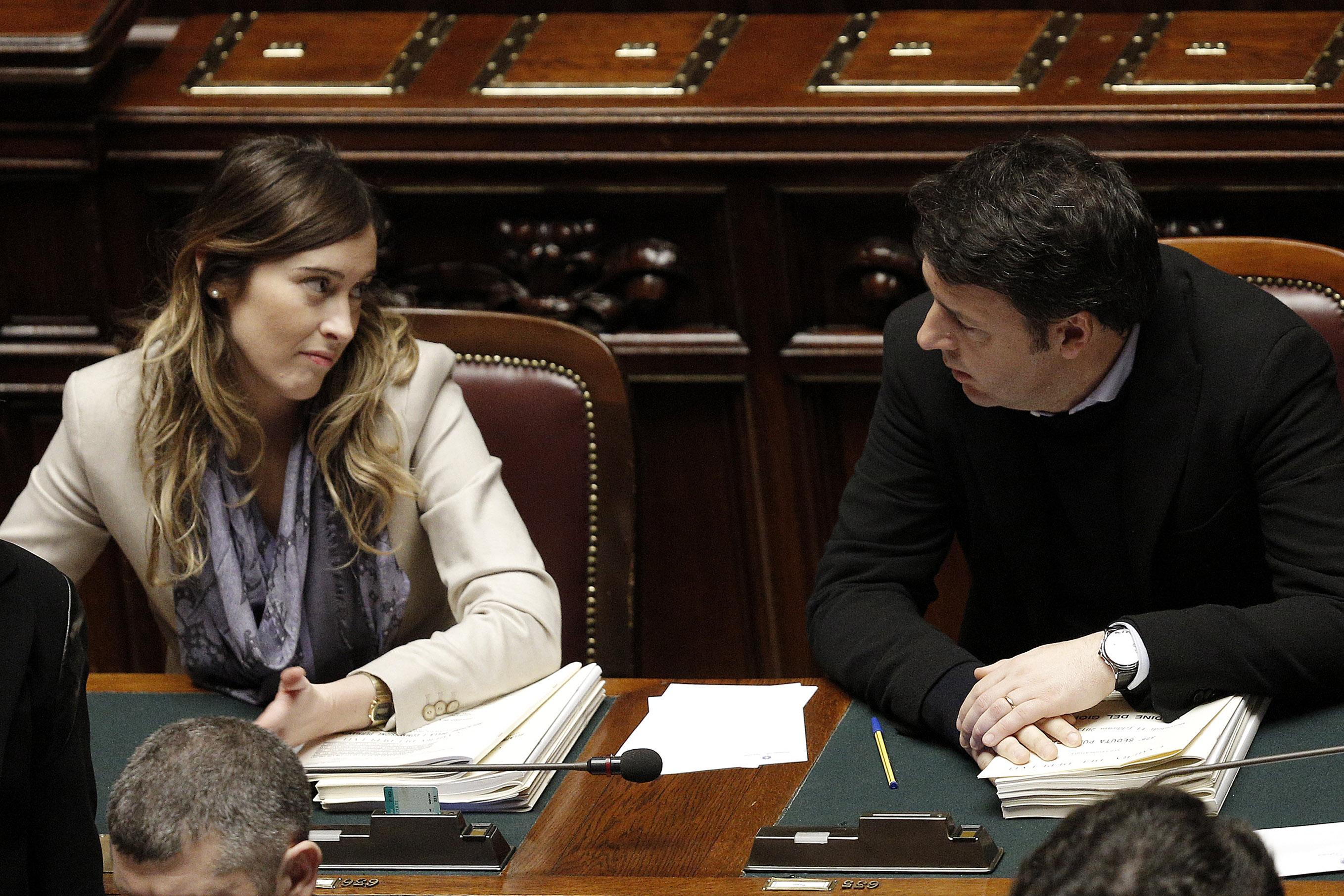 maria elena boschi renzi flirt On 25 november renzi came second in the first round of the primary election with 355% maria elena boschi (2013–present) symbol open foundation logo.