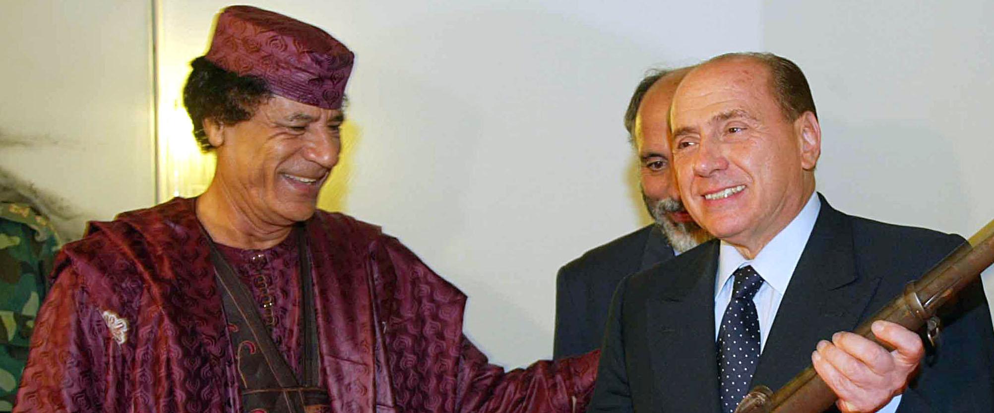 Gheddafi e Berlusconi in LIbia