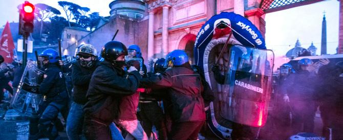Guerriglia a Roma, tornano gli anni Settanta. Scontri a piazzale Flaminio