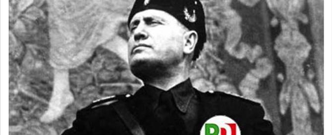 Da Mussolini ai nazisti della Gestapo: contro il Pd il M5S perde la testa