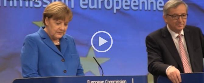 """Non vendiamo frigoriferi agli eschimesi"": la Merkel come Bersani (video)"