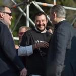 Come sono: Calderoli, Salvini, Bossi, Zaia sul palco di piazza del Popolo a Roma (fonte Facebook)
