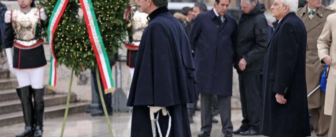 Unità d'Italia, Mattarella depone la sua prima corona di alloro