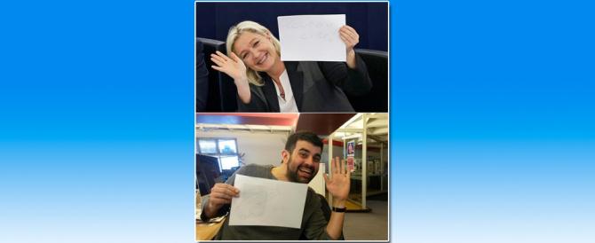 Marine Le Pen fa cucù ai giornalisti di Libération ossessionati dalla destra