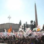 Come sono: la piazza leghista a Roma (fonte Facebook)