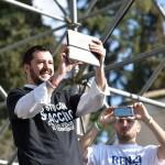 Come sono: il comizio hi-tech di Matteo Salvini (fonte Facebook)