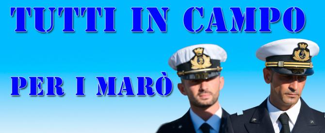 Da don Mazzi a Renato Pozzetto, tutti in campo per i Marò. Ma Renzi è muto