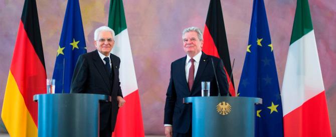"""Mattarella a Berlino """"fa il pieno"""" di elogi tedeschi al governo Renzi"""