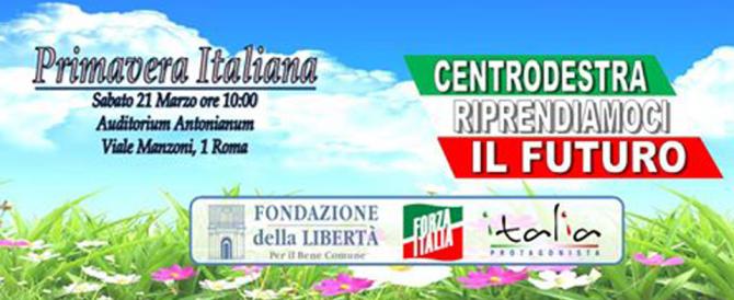 """La """"primavera"""" del centrodestra: convegno di FI con Gasparri, Matteoli e Aracri"""