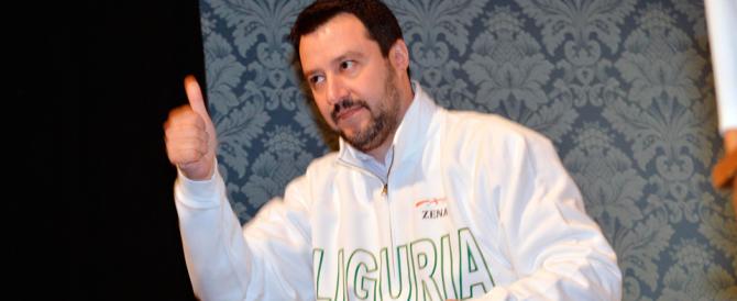 """Salvini: """"Se vinciamo in Liguria, Renzi va a casa. A sinistra solo porcherie"""""""