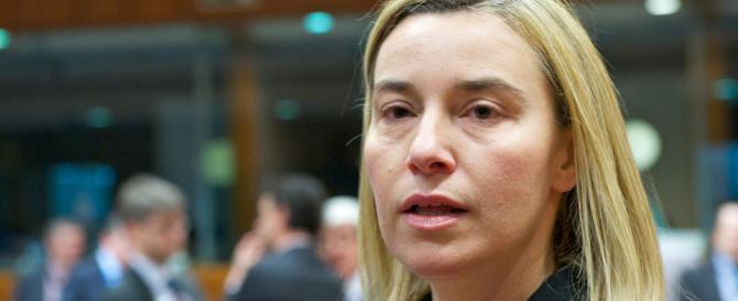 Riappare la Mogherini. Ma solo per dire che in Libia la via militare non serve