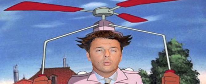 """""""Renzicottero"""" fa impazzire il web di risate, record di sfottò sui social (gallery)"""