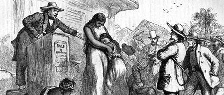 Una vecchia stampa del tempo dello schiavismo negli Usa