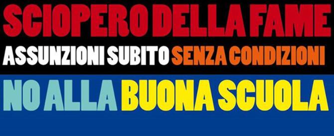 Scuola, precari di Roma in sciopero della fame: «Basta slogan di Renzi»