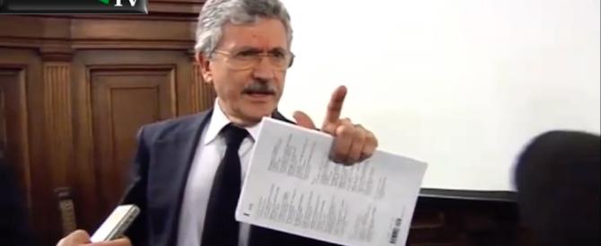 Il D'Alema furioso: parlate dei miei vini e vi denuncio! (Video)