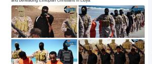 Dall'Isis nuovo video choc. Decapitati 28 etiopi cristiani in Libia
