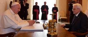 Mattarella al Papa: la mancanza di lavoro inghiotte il futuro dei giovani