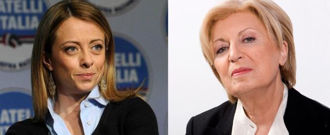 Poli Bortone a Meloni: «Non lascio FdI». E Giorgia: «Rinuncia a candidarti»
