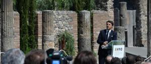 Renzi mai stato a Pompei. Era troppo impegnato con la Ruota della Fortuna