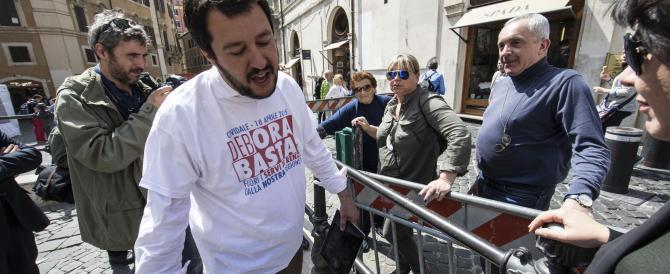 Regionali, Salvini alla base leghista: «Senza alleanze non si vince»