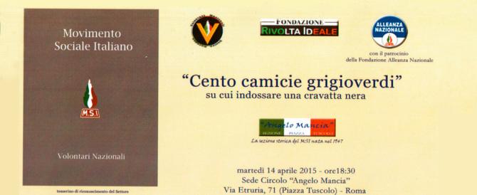 Un convegno a Roma in ricordo dei Volontari Nazionali del Msi