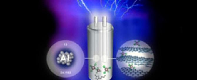 Pronte le batterie del futuro: sono in alluminio, verdi e veloci