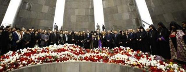 Il memoriale al genocidio a Erevan