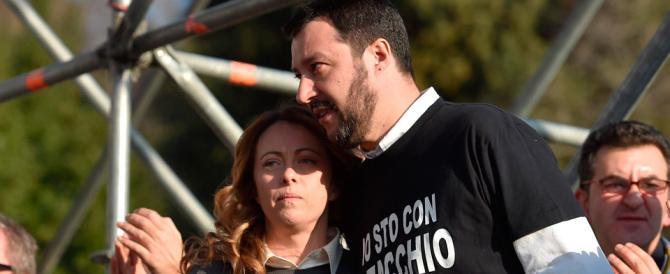 """Salvini boccia Bertolaso: """"O si candida la Meloni o le primarie"""""""