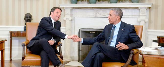 Obama recita il solito copione: a Renzi le identiche parole che disse a Letta