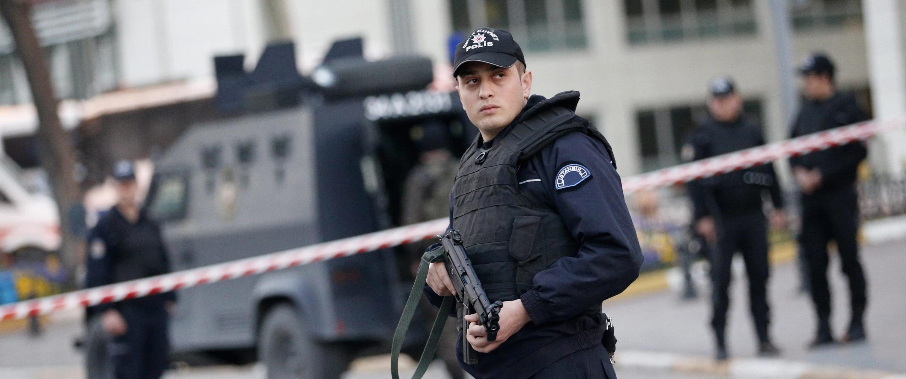 Polizia turca a Istanbul
