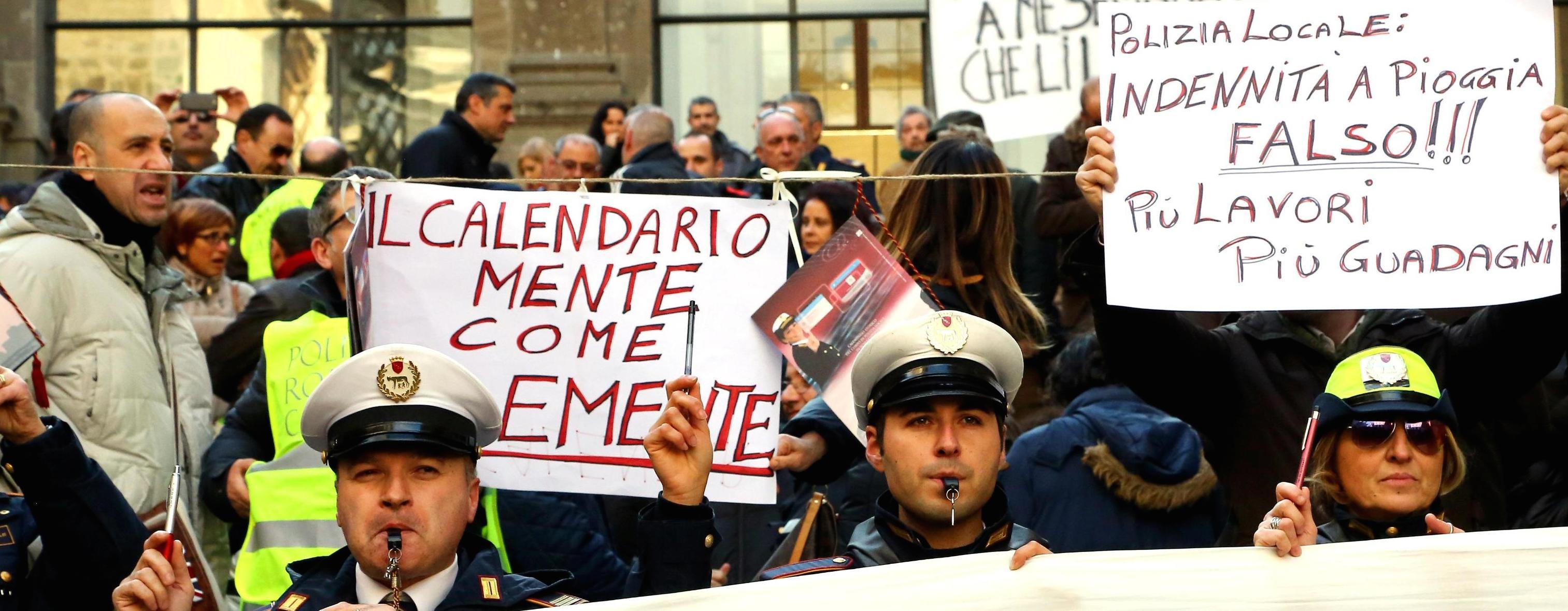 Proteste in Campidoglio